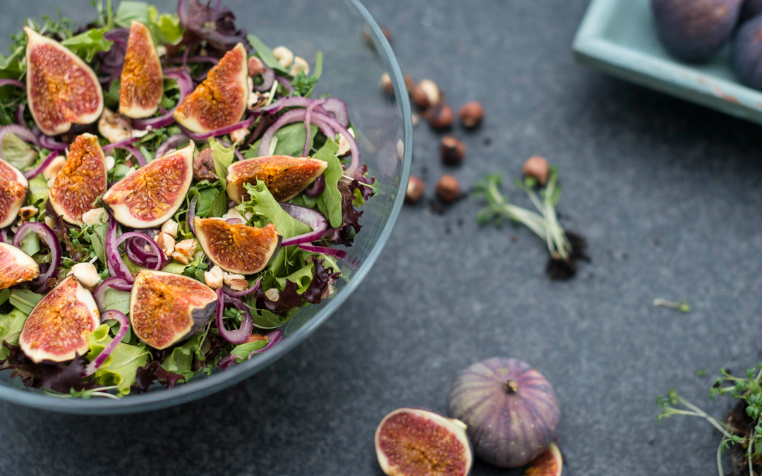 Herbstsalat mit Feigen