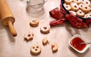 vegane Spitzbuben-Kekse