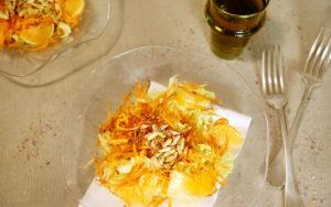 veganer Wintersalat mit Mandarinen
