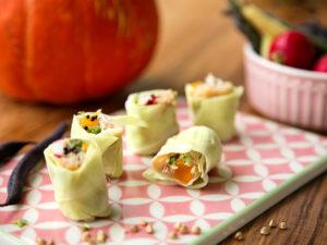 vegane Kabisrollen als Sushi-Variante