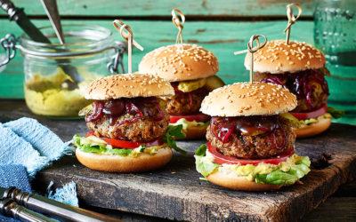 Miniburger mit Bulgurbratling