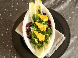 polenta-tannen mit salat